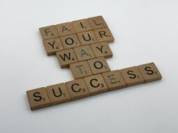 """Scrabble blocks that spell out, """"Fail your way to success."""" (Success Through Failure episode 298: 3 Proven Ways to Transform Failure into Success)"""